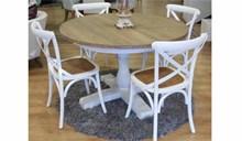 פינת אוכל עגולה פרובנס + 4 כיסאות - רהיטי זילבר