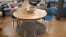 שולחן אוכל עגול קנט שיפוע + 4 כיסאות SIMON  - רהיטי זילבר