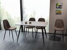 שולחן אוכל Remus + 4 כיסאות TEO D - רהיטי זילבר