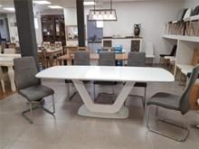 שולחן פינת אוכל ARMANI כולל 4 כיסאות - רהיטי זילבר