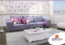 ספה מעוצבת פרפל