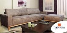 ספה מעוצבת + הדום דגם בוש - רהיטי זילבר