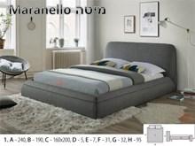 מיטה זוגית מרופדת MARANELLO - רהיטי זילבר