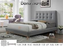 מיטה מעוצבת DONA - רהיטי זילבר