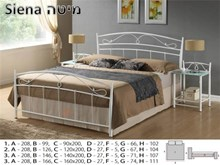 מיטה דגם SIENA - רהיטי זילבר