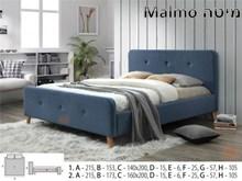 מיטה מעוצבת MALMO - רהיטי זילבר