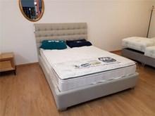 מיטה מרופדת Black/white