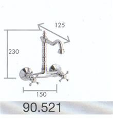 ברז קיר גבוה פיה מסתובבת 90521 - מרכז השרון