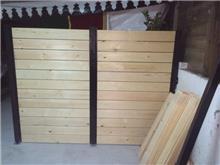 גדר מעץ - עולם הגידור - תכנון ויצור גדרות