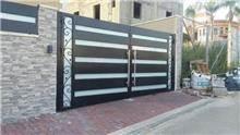 שער גדול לבית פרטי - עולם הגידור - תכנון ויצור גדרות