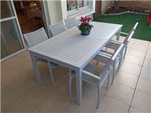 שולחן נפתח אלומיניום 0112 - לה גן
