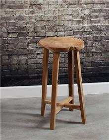 כסא בר מעץ טיק דגם כנען