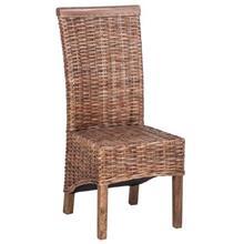 כסא דקורטיבי מעץ וראטן טבעי  - העץ הנדיב