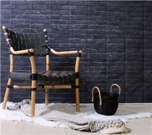 כיסא דקורטיבי מבמבוק ועור