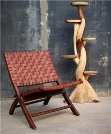 כורסא מעץ טיק דגם וינה - העץ הנדיב
