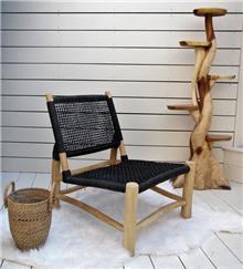 כורסא דגם אליס מעץ טיק וראטן - העץ הנדיב
