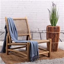 כורסא שיקית מעץ טיק וראטן טבעי  - העץ הנדיב
