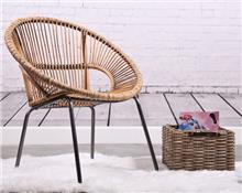 כורסא מראטן וברזל דגם נטלי