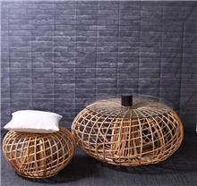 שולחן סלון מראטן טבעי דגם אילון - העץ הנדיב