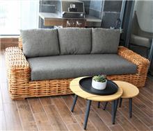 ספה מעוצבת מראטן טבעי