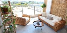 ספה מעוצבת מראטן טבעי ליון - העץ הנדיב