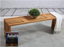 ספסל מעץ טיק משובח דגם שוהם - העץ הנדיב