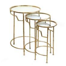 3 שולחנות ציפוי זהב - רהיטי אדרי
