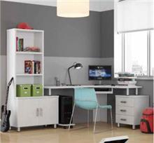 שולחן כתיבה וכוננית יונתן  - רהיטי נעורים