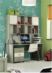 שולחן כתיבה וכוננית לידור - רהיטי נעורים