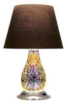 מנורת שולחן זיקוקים גדול שחור