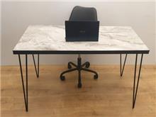 שולחן כתיבה/משרדי דגם TIKA - דמוי שיש אפרפר