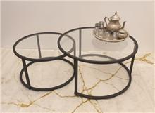 שולחן סלוני סט שולחנות עגולים דגם Black ines