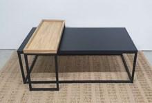 שולחן סלון מלבני עם מגש אירוח דגם Firo