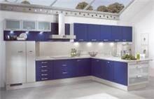 מטבח כחול-לבן