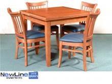 שולחן אוכל מעץ מלא דגם 2