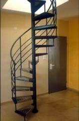 מדרגות לוליניות שחורות בגימור פח  - קו נבון
