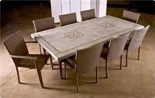 שולחן נופית איילנד כסאות קאמל מוקה