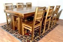 שולחן וכיסאות עץ אגוז אפריקאי