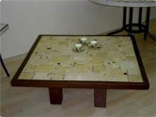 שולחן הושעיה עם מסגרת עץ