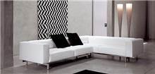 ספה לבנה פינתית לסלון
