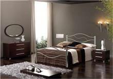 מיטה זוגית כסופה - DUPEN (דופן)