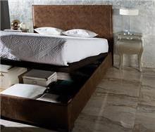 מיטה חומה עם ארגז מצעים - DUPEN (דופן)