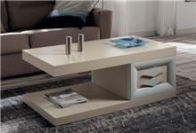 שולחן סלון נפתח עם מגירות ומדף - DUPEN (דופן)