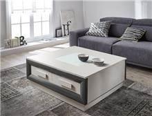 שולחן סלוני מרובע עם 2 מגירות