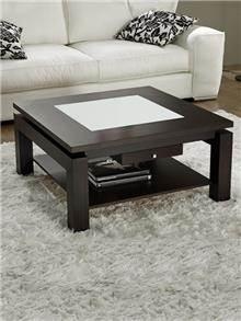 שולחן סלון נפתח בשילוב זכוכית - DUPEN (דופן)