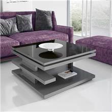 שולחן סלון נפתח עם משטח זכוכית - DUPEN (דופן)