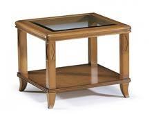 שולחן סלון קלאסי בשילוב זכוכית - DUPEN (דופן)