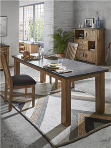 שולחן אוכל מעץ מלא ובטון - DUPEN (דופן)