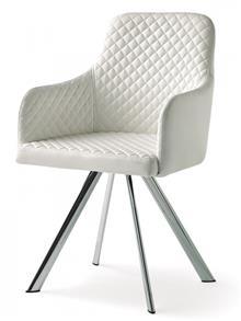 כסא מרופד דמוי עור