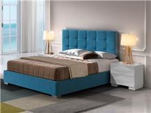 מיטה מרופדת בעיצוב נקי